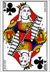 100px Queen of clubs fr svg