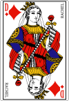 100px Queen of diamonds fr svg