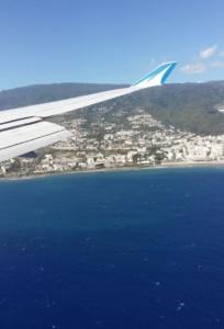 l'arrivée sur l'île