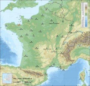 carte relief lambert grandes villes Dinard